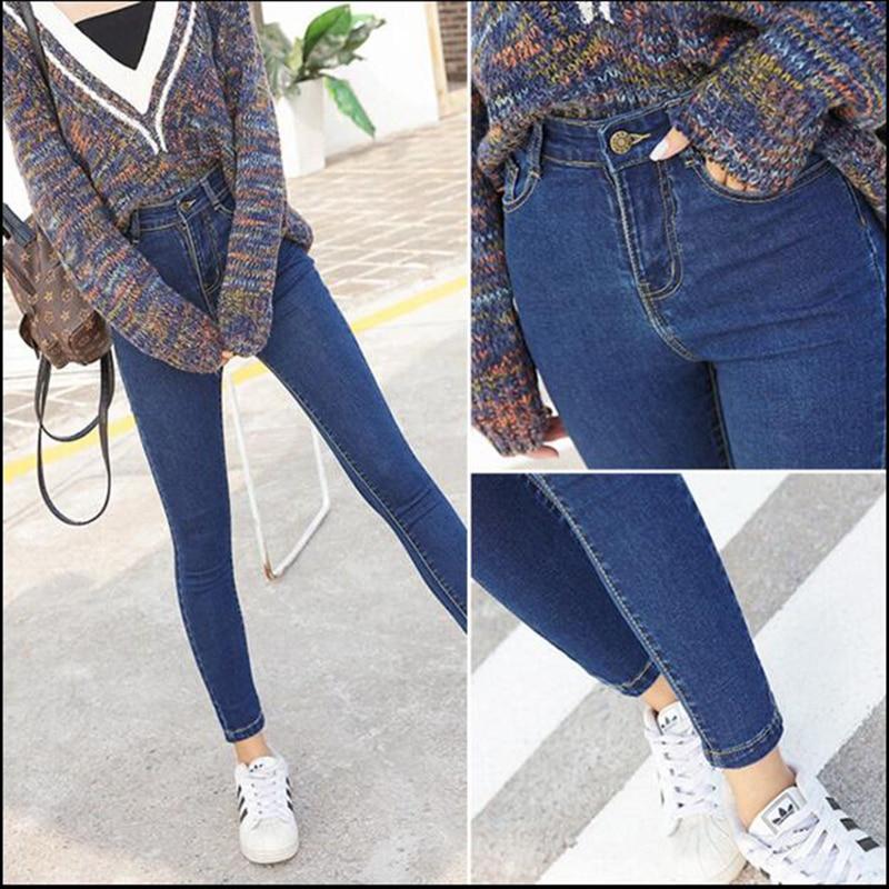 Skinny Jeans Para Mujer Tobillo Basica Lapiz Pantalones Delgados Elasticos Pantalones De Mezclilla Jean Leggings Jeggings Jeans Mujeres De Algodon Femenino Women Jeans Skinny Womens Jeansjeans Woman Aliexpress
