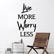 3D live more worry less Sticker Waterproof Vinyl Wallpaper Home Decor vinyl Stickers Decoration Accessories