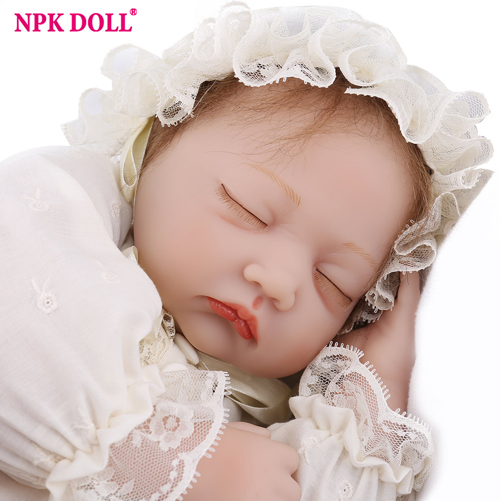 Reborn Baby Doll Girl Princess Sleeping 22 inch Silicone Plush Toys Soft Mohair Lifelike Realistic Newborn Baby Birthday GiftReborn Baby Doll Girl Princess Sleeping 22 inch Silicone Plush Toys Soft Mohair Lifelike Realistic Newborn Baby Birthday Gift