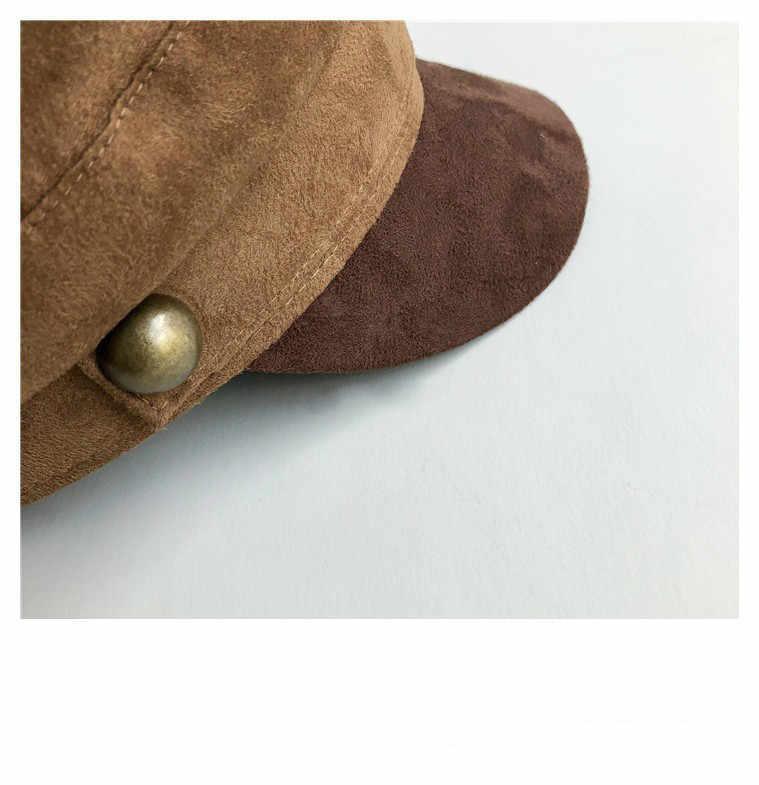 7520110020f69 ... Chamois Leather Military Hat men women Flat Top Army Cap Custom online  celebrity British style Browm ...