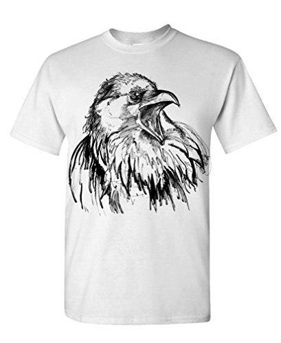 Unique T Shirts Funny O-Neck Short-Sleeve T Shirt The Black Bird raven crow edgar allen poe For Men ...