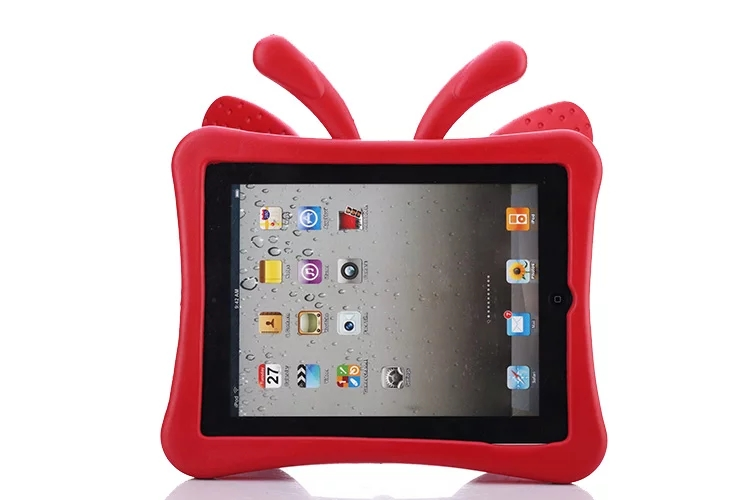 3D Cartoon Butterfly Case For Ipad 2 3 4 Case For Ipad 4 Kids Safe Stand Shockproof Tablet Cover For Ipad 3 For Ipad 2