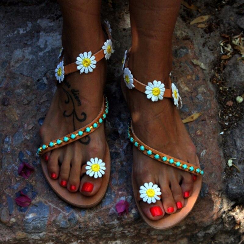 Moda De Mujeres Zapatos Verano Tacón Sandalias Las Plano qSUMpzV