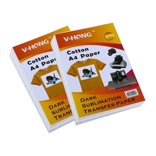 V-HONG cotton T-shirt sublimation paper can prevent crack Dark color heat transfer  A4