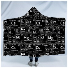 Plstar Cosmos Math science for boy Graphic funny  Hooded Blanket 3D full print Wearable Adults men women Einstein style2