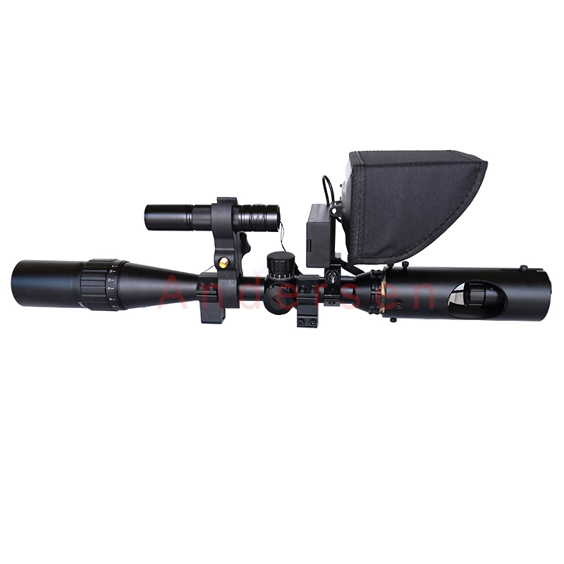 Hot 2019 New Update LCD monitor telescope binoculars Sight Tactical Riflescope Infrared night vision with Sunshade