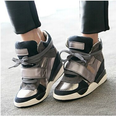 High Heel Wedge Sneakers For Women | Tsaa Heel