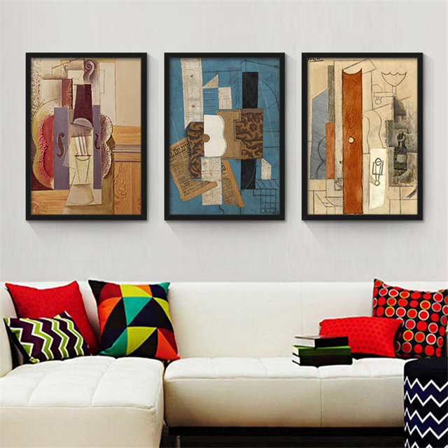 Picasso Abstract Painting Nordic Wall Paper Woman Figure Art Poster  Creative Canvas Mural Drawing For Office