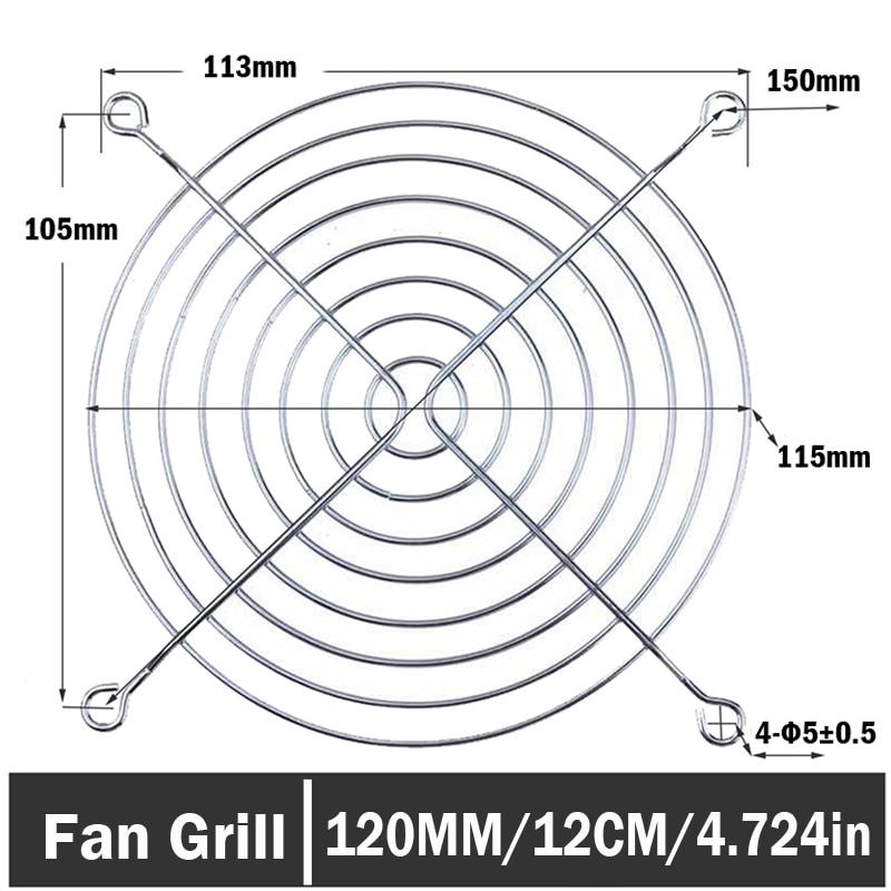 Guard Black 120mm Wire Computer Case Fan Grill