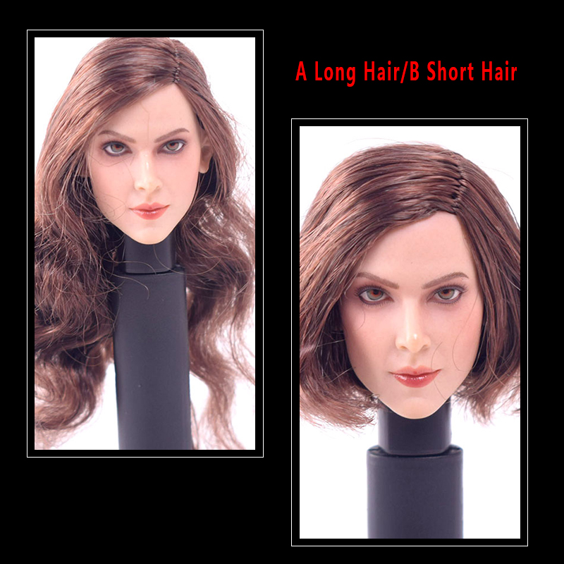 1//6 Female Head Sculpt Curly Hair for 12/'/' Hot Toys//Phicen Action Figure A