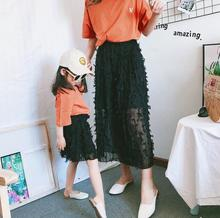 mesh dress mommy and me clothes family look mother daughter dresses mom mum and daughter girl matching outfits dress clothing family matching clothes brand women dress kids clothing outfits rose prints baby girl princess dress mother and daughter dresses