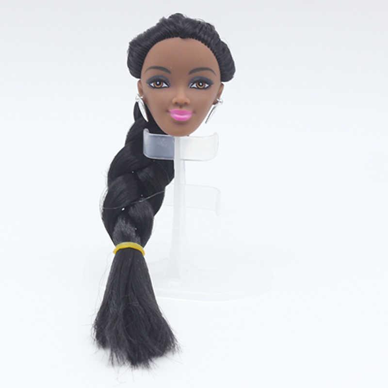 5 móvel Articulado 30 cm Nuas Bonecas Corpo Nu Feminino de Pele Negra Corpo Boneca DIY Cabeça Body & Carrinho de Boneca brinquedos Para Meninas Presentes