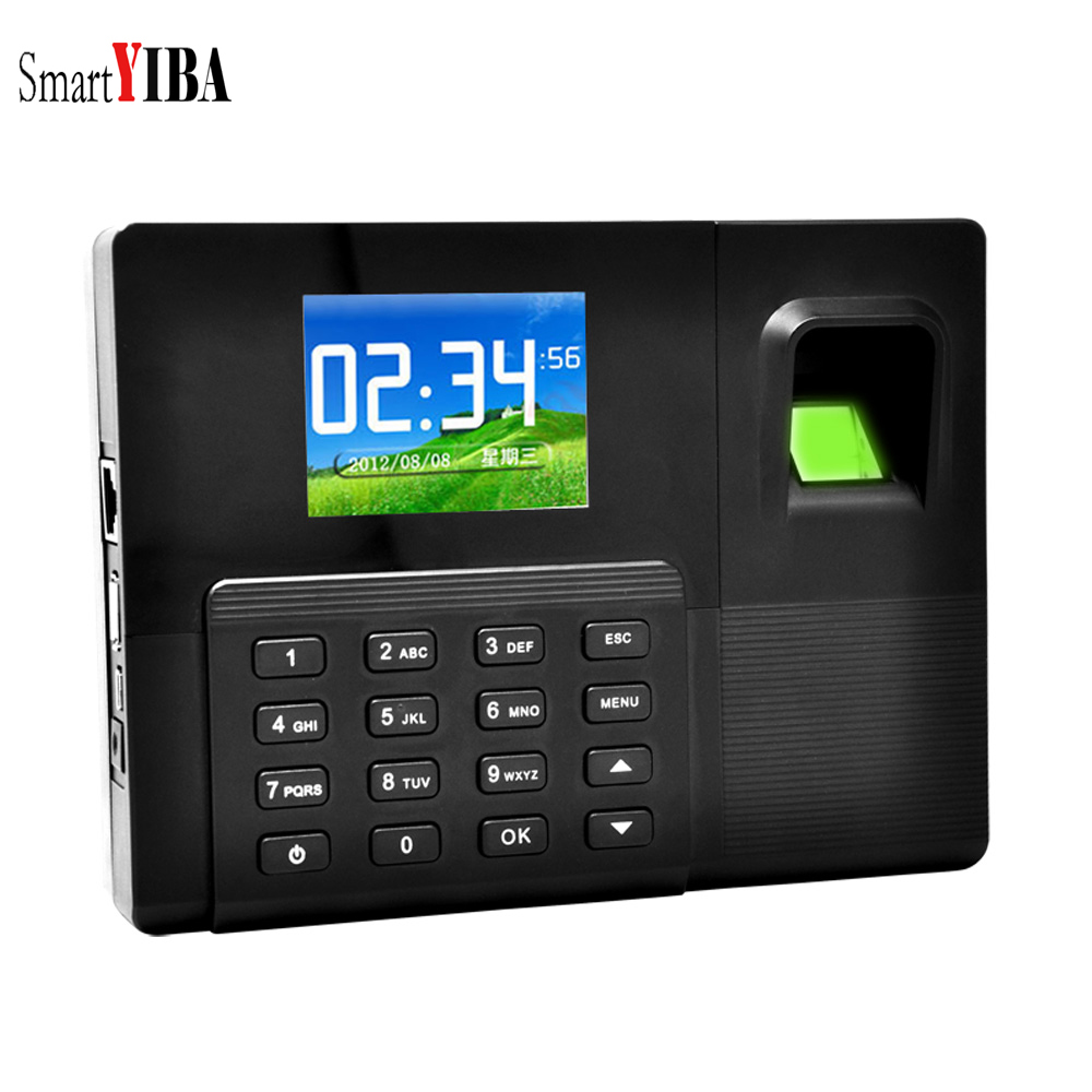 SmartYIBA 2.8 Inch TFT TCP/IP USB Backup Battery Biometric Fingerprint Password Attendance Machine System Employee Recorder TimeSmartYIBA 2.8 Inch TFT TCP/IP USB Backup Battery Biometric Fingerprint Password Attendance Machine System Employee Recorder Time