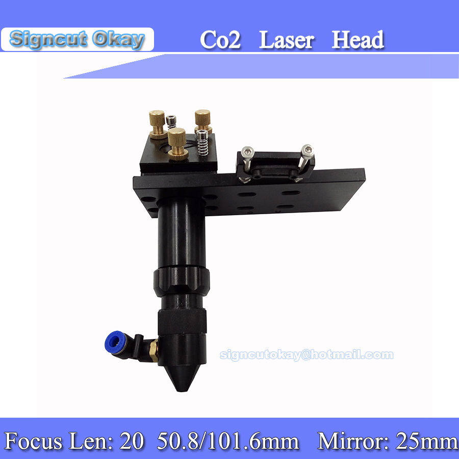 CO2 Laser Head  Focal Focus Lens 20mm 50.8mm Reflective Mirror 25mm Integrative Mount Laser Engraving And Cutting Machine