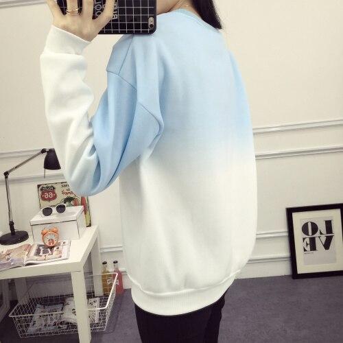 ArtSu Autumn Winter Thicken Fleece Gradient Color Hoodies Sweatshirt Women Hoody Tracksuit Cute Sweatshirts Clothing ASHO50037 4