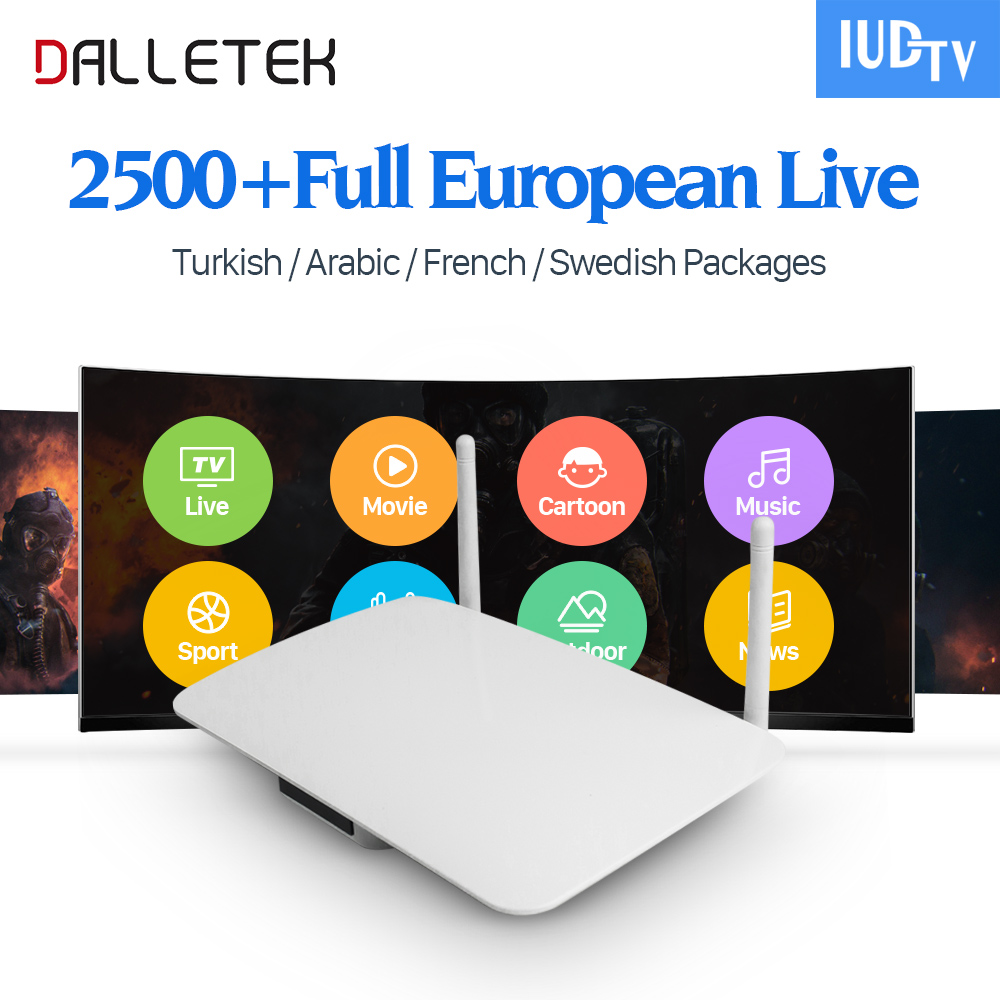 Hot Europe TV Box Android 6.0 Smart IUDTV Code 2500 Channels IPTV Abonnement French Portugal Turkish Arabic IPTV Box Dalletektv free italy sky french iptv box 1300 european channels iudtv european iptv box live stream sky sports turkish sweden netherland