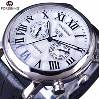 Forsining 2017 Classic Series Roman Number Calendar Sapphire Crystal Waterproof Mens Watch Top Brand Luxury Automatic