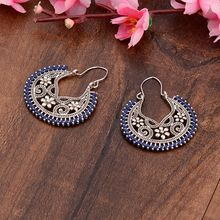 TopHanqi New Vintage Enthic Geometric Alloy Dangling Earrings Women Temperament Simple Retro Pendant Fashion Jewelry