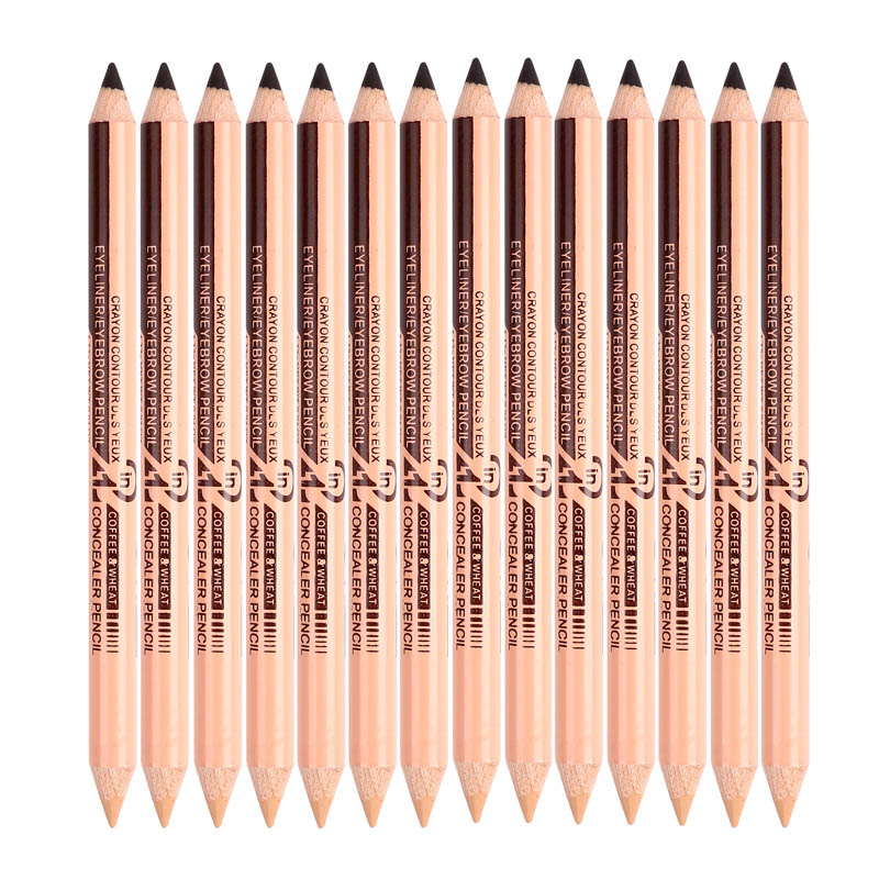 Menow 12PCS Concealer eyebrow Pencil 2 in 1 Makeup Two head use Professional Concealers Face Powder maquiagem drop ship P09015 in Eyeliner from Beauty Health
