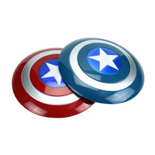 32CM Avenger Super Hero Captain America Shield Helmet Cosplay for Kids Toy Action Figure Model American Launcher