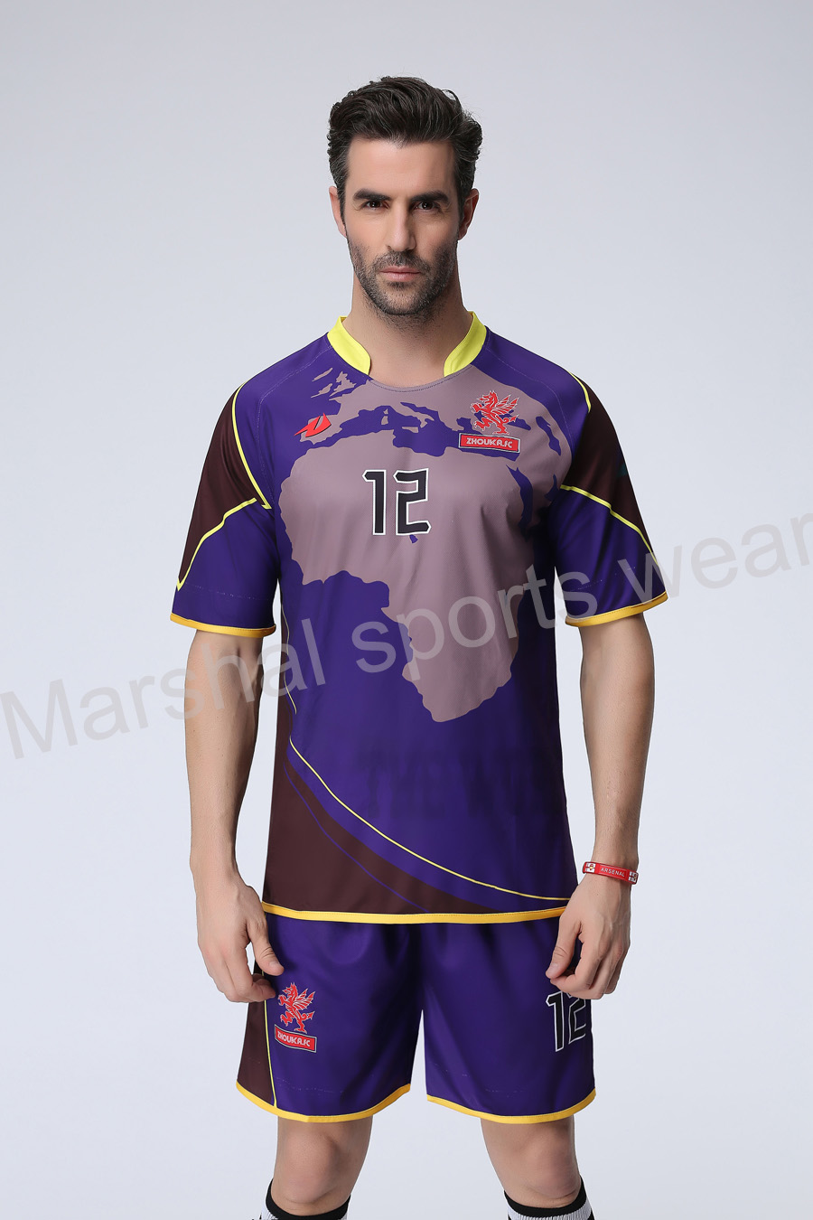 Design your own t-shirt hot pink - Purple Color Soccer Uniform We Can Do Your Own Design Print Logo Name Color Number As Your Request