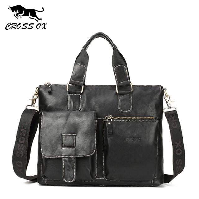 CROSS OX Кожаная сумка в деловом стиле HB563