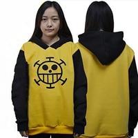 Top Anime One Piece Trafalgar Law Hoodie Autumn Winter Sweatshirt Cotton Hoody Cosplay Clothes Size S