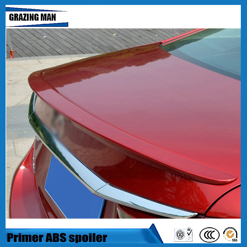 Mazda 6 2014 For Sale: Hot Sale ABS Primer Unpainted Color Car Rear Lip Spoiler