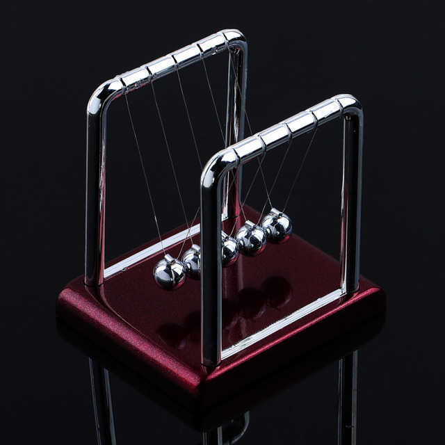 2018 New Newtons Cradle Steel Balance Balls Desk Physics Science Pendulum Toy Brand For
