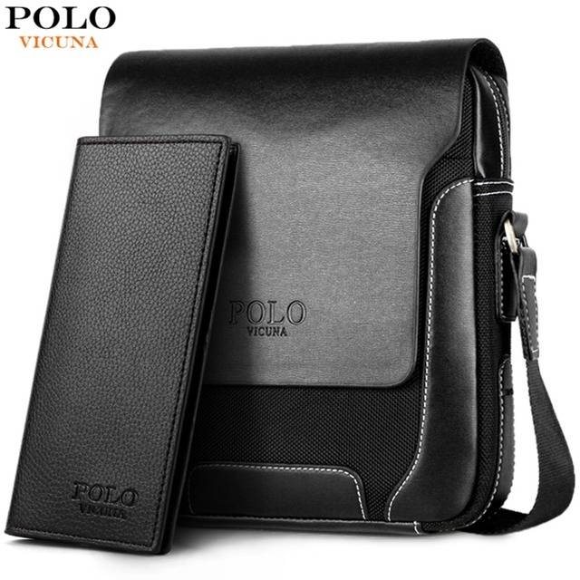 934c16aae531 VICUNA POLO New Arrival Solid Brand Men Crossbody Bag Male Casual Travel  Simple Style Leather Shoulder Bag Man Messenger Bags
