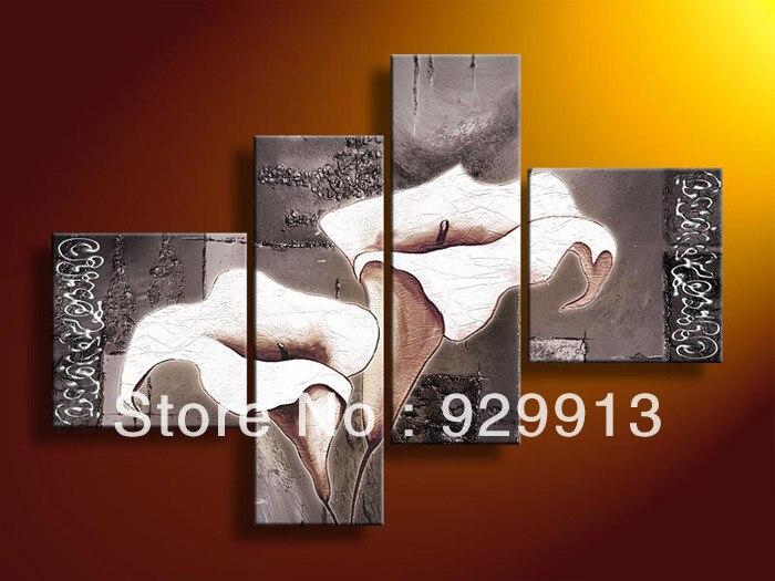 Framed 4 Panel 100 Handmade High End Large 4 Piece Wall