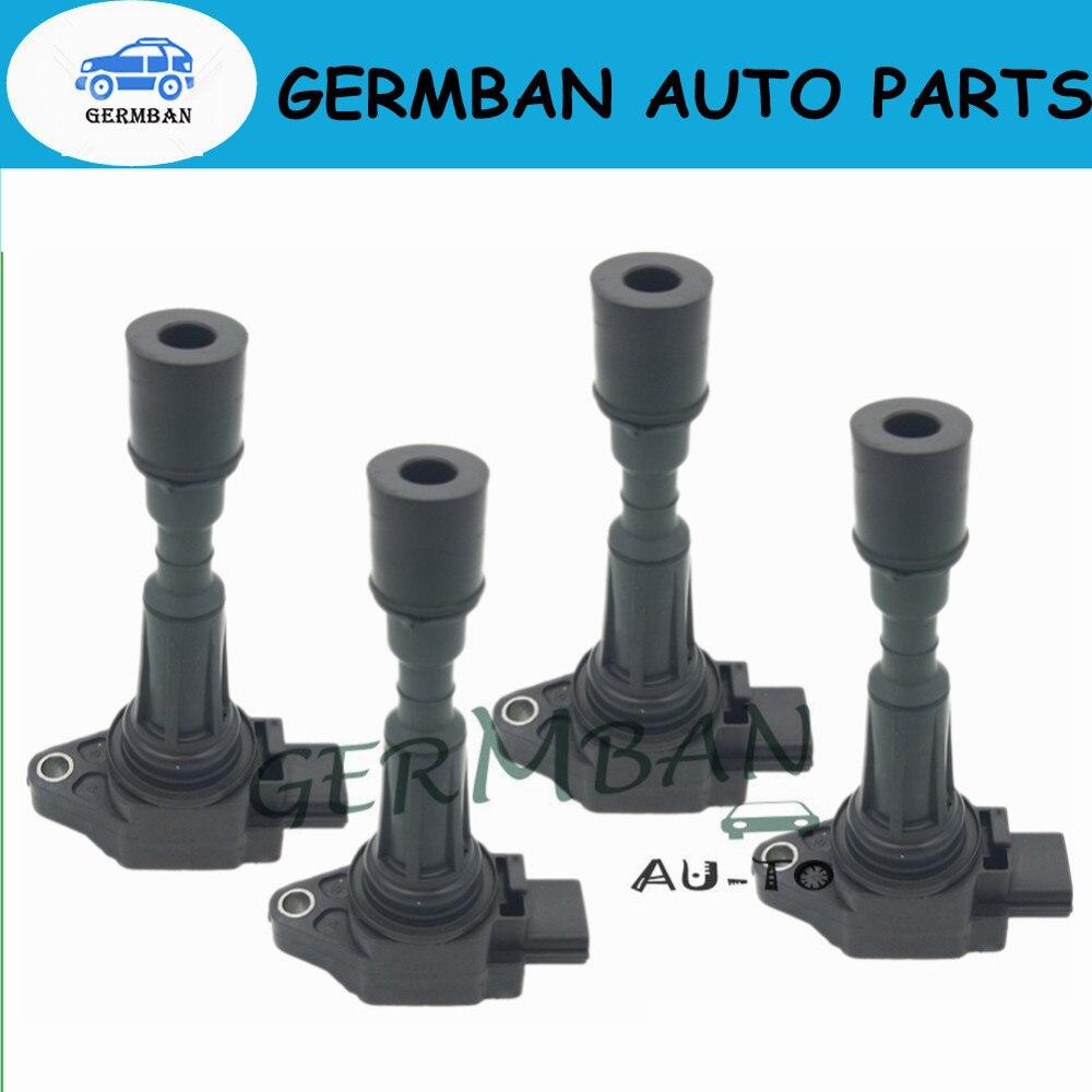 Neu & Schnelle Verschiffen! set von 4 Zündspule ZJ20-18-100 ZJ2018100 J2018100A Für 2011-2015 Mazda 2 1.5L-L4 Mazda 3 1.4L 1.6L