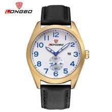 LONGBO Luxury Brand Men Military Sport Leather Quartz Watch 2016 Fashion Casual Date Calendar Wristwatch Relogio