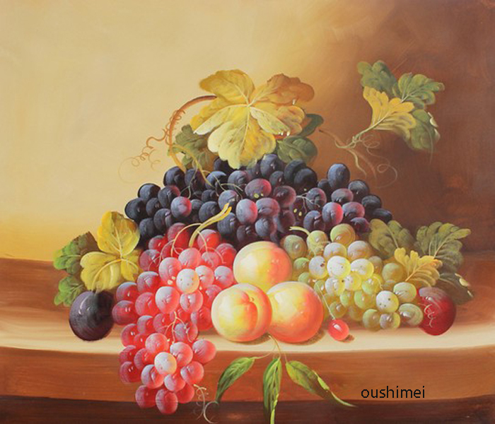 Us 84 0 50 Off Hand Painted Paintings Realist Fruits Pictures On Canvas Grapes Oil Painting For Room Decor Still Life Paintings Hang Pictures In