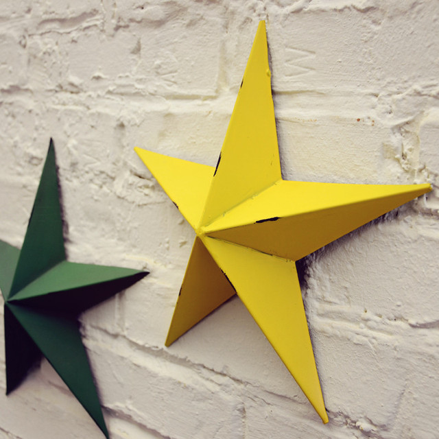 Loft home wall hanging american vintage metal star for cafe bar home ...