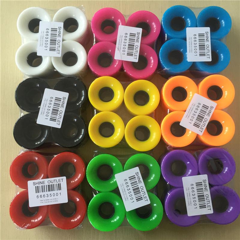 Neue 60 * 45mm Freies verschiffen Fisch bord Räder PU Skate Räder Multi Reine farbe 80A kurator Räder Skateboard Rodas De Skate