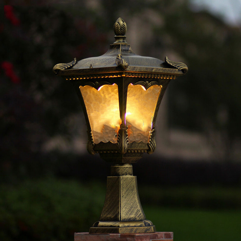 Outdoor post lamp aluminum waterproof chapiter lamp,garden courtyard outdoor colunm lighting WCS-OCL0013 ...
