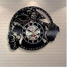 Black Vinyl Antique Wall Clock Creative Home Decor Classical Clock Big Art Watch Quartz Clocks Horloge Murale