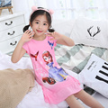 Summer Children's Nightgown Short-sleeved Cartoon Children's Pajamas Thin Girl Dresses Princess Nightgown Girls Sleepwear Set