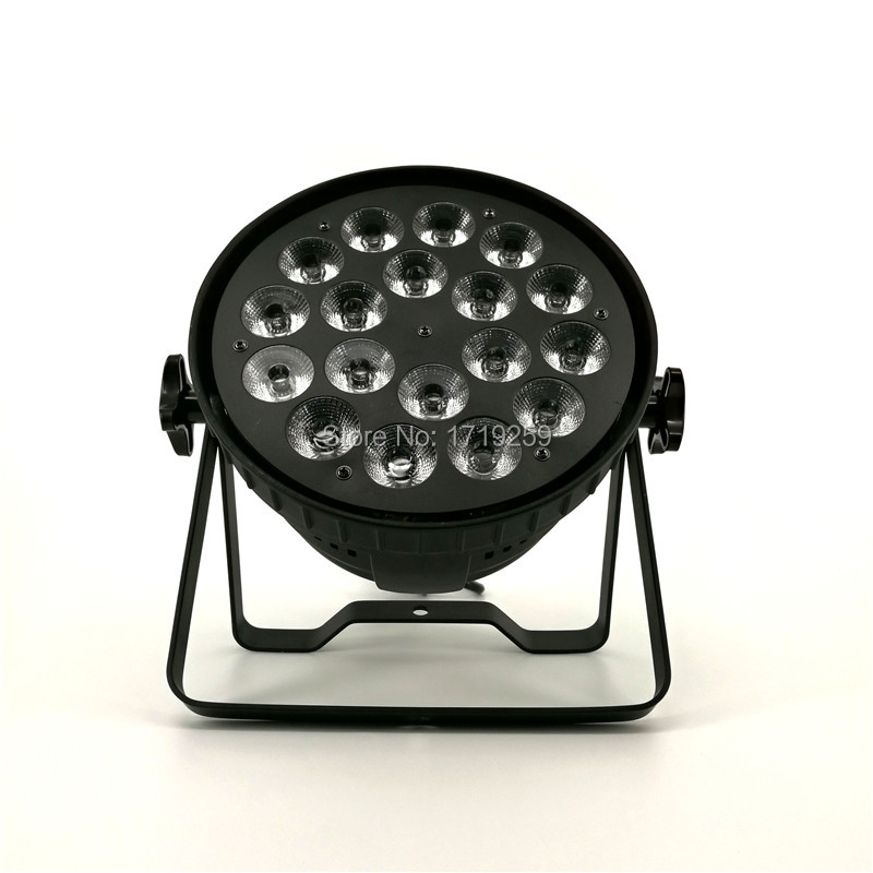 LED Par 18x15W RGBWA 5in1 LED Par Can Par led spotlight dj projector wash lighting stage uplight Aluminum alloy 4pcs lot led par 18x15w rgbwa 5in1 quad led par can par64 led spotlight dj projector wash lighting stage light