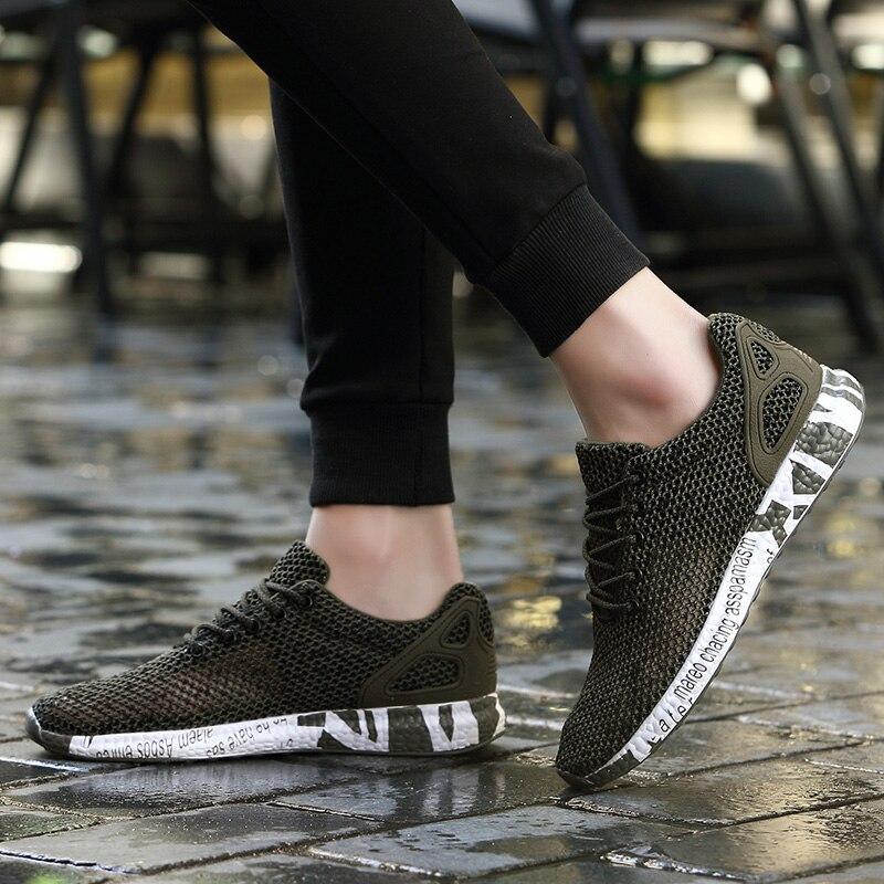 Men Shoes Summer 2018 Men Sports Shoes Mesh Lightweight Breathable Running Shoes Outdoor Designer Sneakers Walking Shoes Jogging