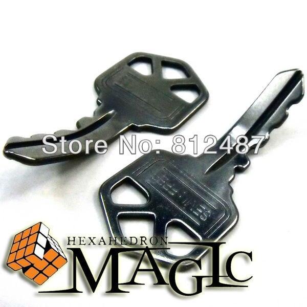 6 pièces ellusionniste décalage auto flexion clé Psy clé-gros plan mentalisme tour de magie/produit magique professionnel/vente en gros
