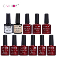 LULAA 9PC Nail Gel Polish Top Coat Base Coat LED Shining Colorful 132 Colors10ML Long