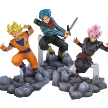 12-13cm Dragon Ball Z Trunks Pink Dark Goku Super Saiyan Battle Fighting Ver 3 Styles Figure DBZ Goku Action Figure Collection