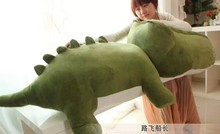 huge plush army green crocodile toy stuffed cartoon Chinese alligator pillow birthday gift about 170cm