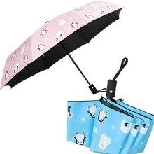 Automatic Folding Umbrella Chuva Mulheres Sol Guarda-chuva de Viagem À Prova D' Água Para Crianças Meninas Bonitos Homem Paraguas Sombrinha Guarda Chuva