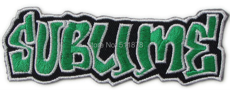 SUBLIME Rock Punk retro applique iron on patch Metalcore heavy metal music Electronic band sew on