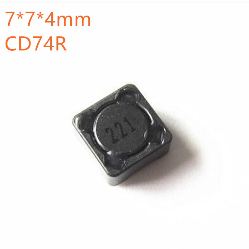 100pcs SMD power <font><b>inductors</b></font> CD74R 7*7*4mm 2.2UH 3.3UH 4.7UH 6.8UH 10UH 22UH 33UH 47UH 68UH <font><b>100UH</b></font> 150UH 220UH 470UH image