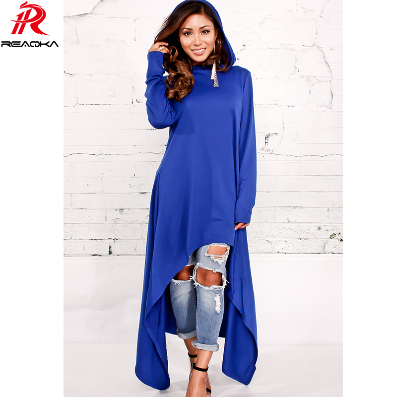 Autumn Winter Casual Womens Hooded Dress Plus Size 2018 Hoody Women Long Sleeves Asymmetrical Bodycon Irregular Long Dress Maxi