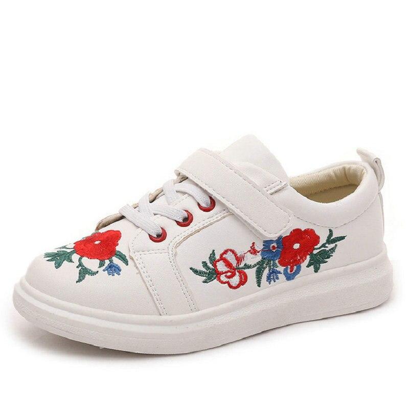Kinderschoenen kinderen mode sneakers herfst geborduurd pu leer - Kinderschoenen - Foto 2